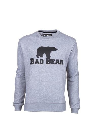 Bad Bear Erkek Antrasıt Sweatshirt Crewneck Gri